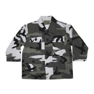 Youth BDU Long Sleeve Shirt (Urban Camo)