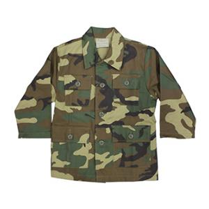 Youth BDU Long Sleeve Shirt (Woodland Camo)