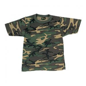 Youth Camouflage T-shirt (Poly / Cotton) Woodland Camo