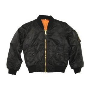 Youth Nylon MA-1 Flight Jacket (Black)