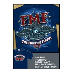 Fleet Marine Force T-Shirt (Black) 7.62 Design