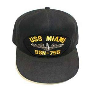 USS Miami SSN-755 Cap (Dark Navy) (Direct Embroidered)