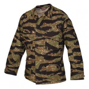 4 Pocket BDU Shirt (Poly/Cotton Twill)(Tiger Stripe Camo)