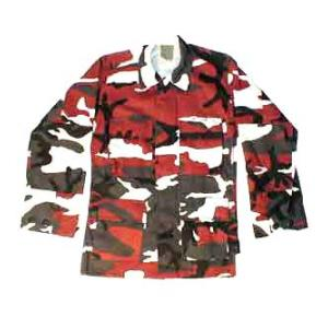4 Pocket BDU Shirt (Poly/Cotton Twill)(Red Camo)