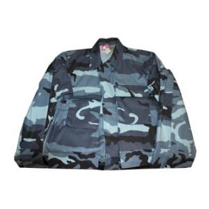 4 Pocket BDU Shirt (Poly/Cotton Twill)(Sky Blue Camo)