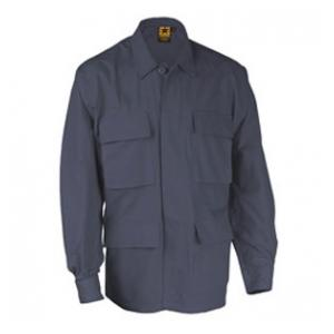 4 Pocket BDU Shirt (Poly/Cotton Ripstop)(Navy Blue)