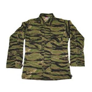 4 Pocket BDU Shirt (Cotton/Poly Ripstop)(Asian Tiger Stripe Camo)