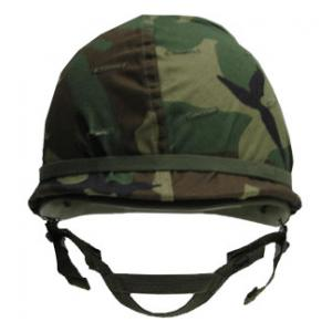 Steel Helmet Woodland Camouflage (New)
