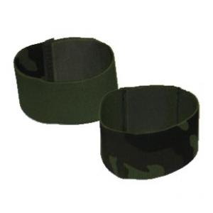 "2"" Boot Blousers/Velcro Tie Straps Reversable OD and Woodland Camo"