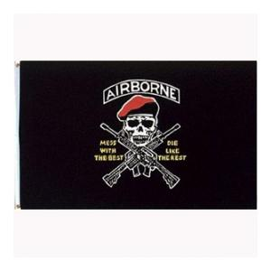 Army Airborne Flag (Mess With The Best)