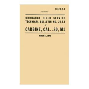 .30 Cal. M1 Carbine Manual