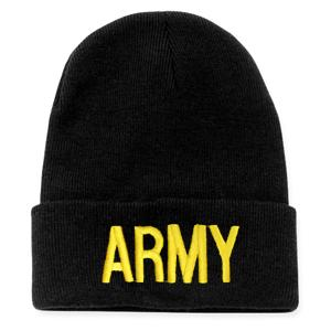 Army Letters Watch Cap (Black)