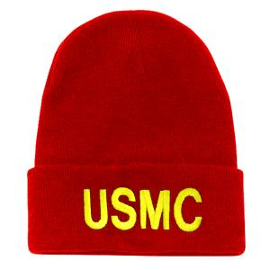 USMC Letters Watch Cap (Red)