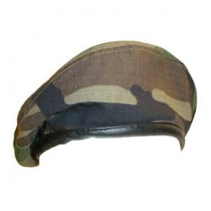 Woodland Camo Beret (Leather Sweatband)