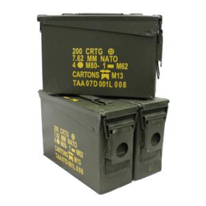 G I .30 Caliber Size Ammo Can (Used)