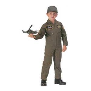 Youth Top Gun Flight Suit (Olive Drab)