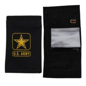 US Army Nylon Tri-Fold Wallet (Black) (Seal)