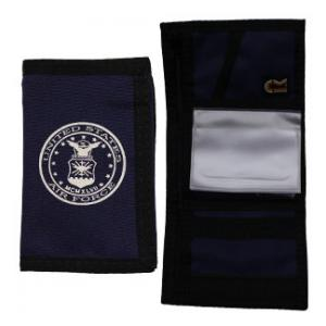 US Air Force Nylon Tri-Fold Wallet (Navy Blue) (Seal)