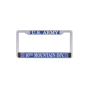 US Army 10th Mountain Division License Plate Frame