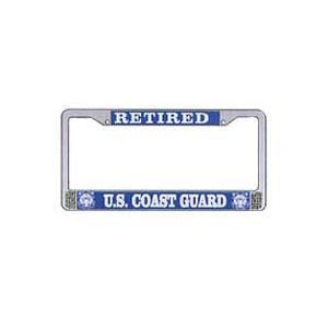 US Coast Guard Retired License Plate Frame