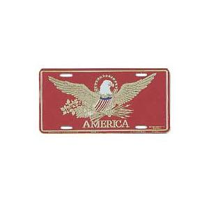 America Red License Plate