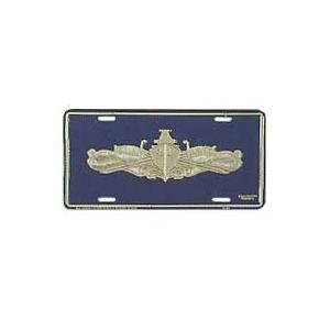 Navy Surface Warfare Gold License Plate