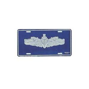 Navy Surface Warfare Silver License Plate