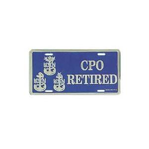 Navy CPO Retired License Plate