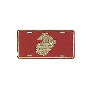 Marine Globe & Anchor License Plate