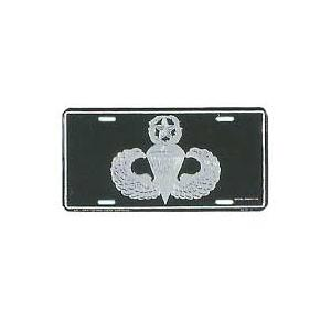 Army Master Parachutist License Plate