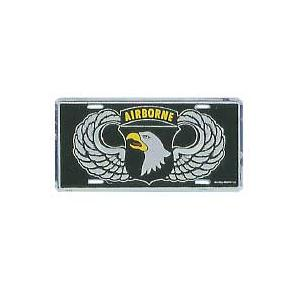 Army 101st Airborne Wings License Plate