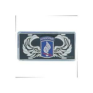 Army 173rd Airborne Wings License Plate
