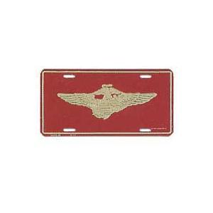 Marine Globe & Anchor W/ Wings License Plate
