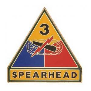 3rd Armored Division Combat Service I.D. Badge