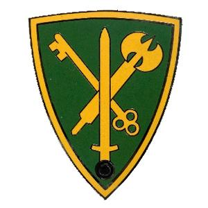 42nd Military Police Brigade Combat Service I.D. Badge