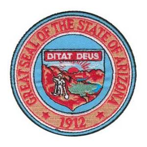 Arizona State Seal Patch