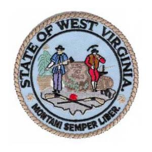 West Virginia State Seal Patch