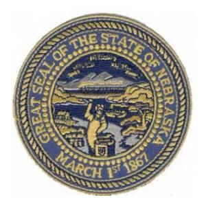 Nebraska State Seal Patch