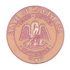 Louisiana State Seal Patch