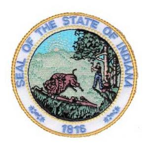 Indiana State Seal Patch