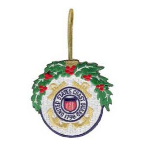 Embroidered Coast Guard Christmas Ornament