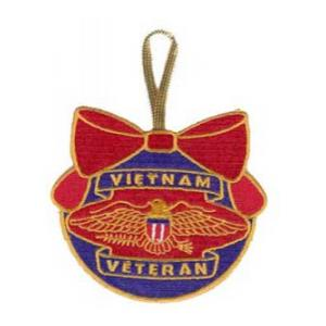 Embroidered Vietnam Veteran Christmas Ornament