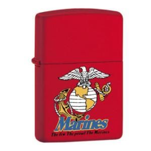 Marines The Few The Proud Zippo Lighter (Red Matte)