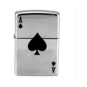 Lucky Aces Zippo Lighter (High Polish Chrome)