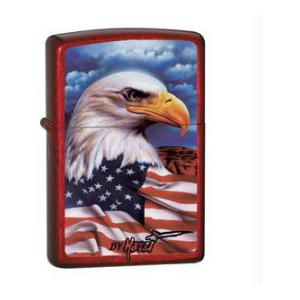 Freedom Watch Zippo Lighter (Candy Apple Red)