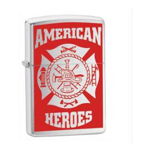 American Heros Firefighter Zippo Lighter (Street Chrome)
