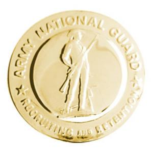 Army National Guard Recruiter Identification Badge (Gold)