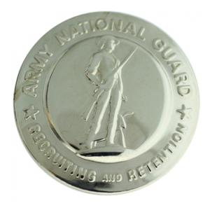 Army National Guard Recruiter Identification Badge (Silver)
