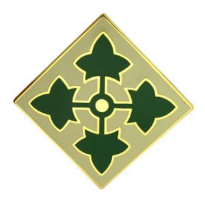 4th Infantry Division Combat Service I.D. Badge