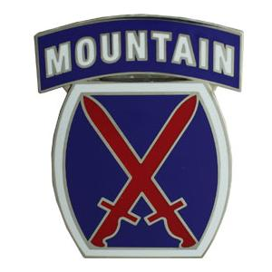 10th Mountain Division Combat Service I.D. Badge